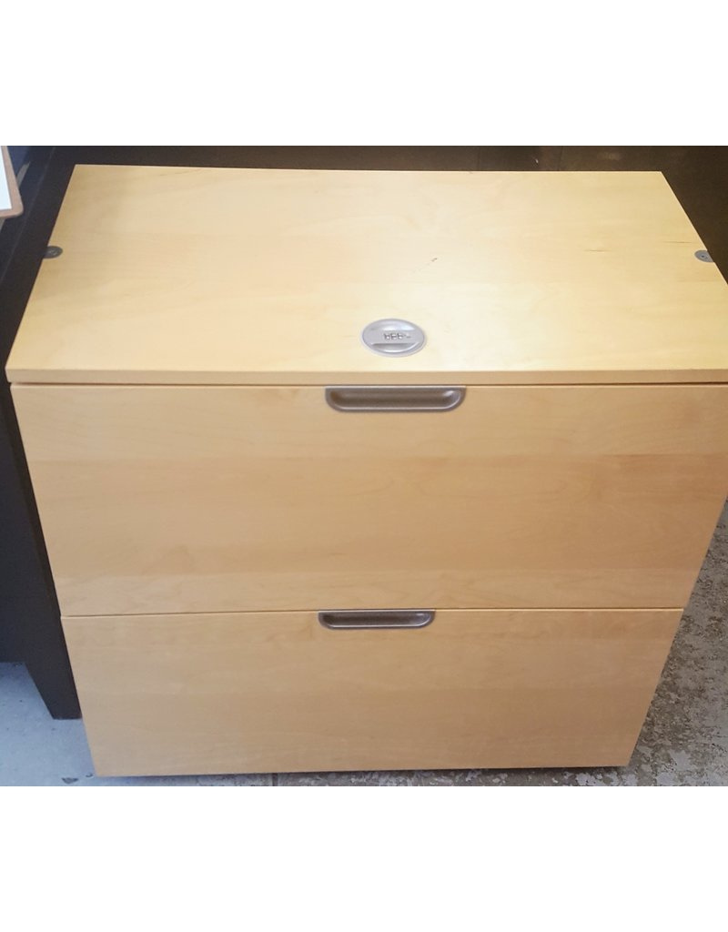 East York 2 Drawer filing cabinet with built in combination