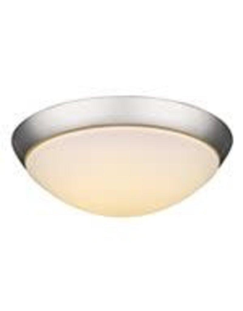 Studio District Indoor 2 light 13 inch Flushmount Opal Glass in Satin Nickel