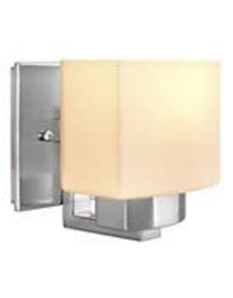 Studio District 1-Light Brushed Nickel Sconce with Frosted Glass Shade