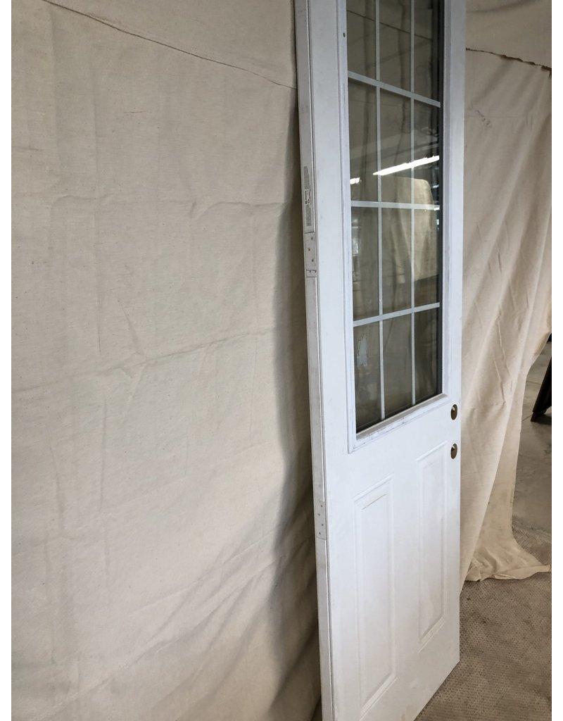 """East York 95""""H x 32""""W White Front door/ cross section window"""