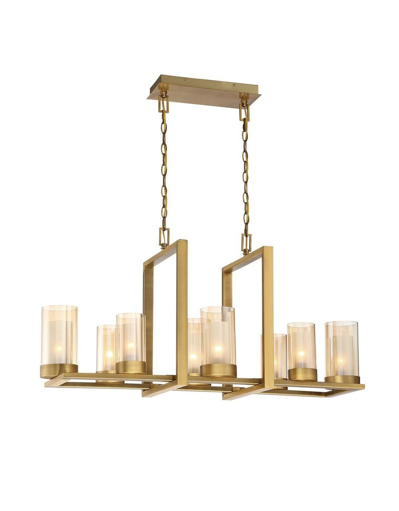 North York 8 Light Linear Chandelier