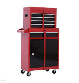 Studio District Red Wheeled Tool Chest