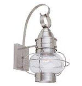 Studio District Hampton Bay 10 In. 1-Light Wall Lantern, Satin Chrome Finish