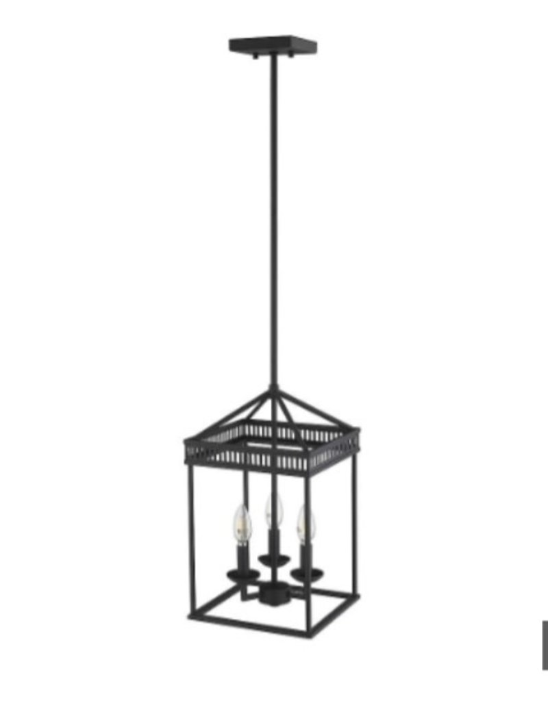 Vaughan 3-Light LED Black Pendant Light