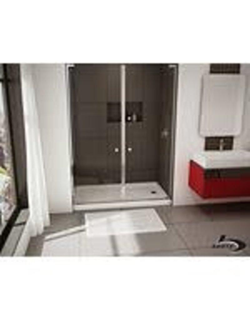 Studio District Bootz 60x32x4 Porcelain/Steel Shower Base LH White