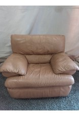 Markham West Beige Leather Chair