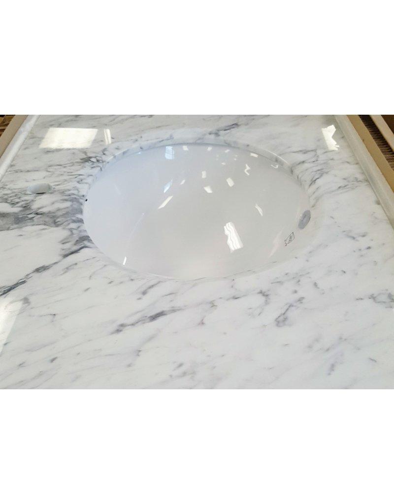"""East York 63"""" x 22"""" Double vanity sink - Marble"""