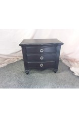Markham West Dark wood side table