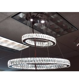 Vaughan LED Crystal Oval Rings Chandelier