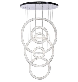 East York LED Crystal Chandelier with Chrome Finish