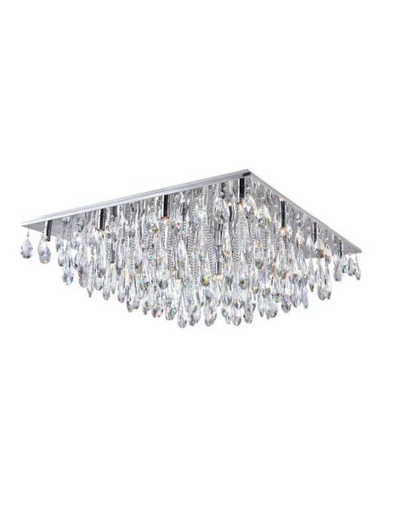 East York 20 LIGHT FLUSH MOUNT WITH CHROME FINISH