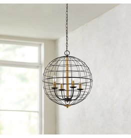 East York Home Decorators Collection 4 Light ORB Cage Pendant