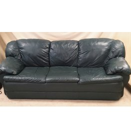 East York 3 seat green sofa -  faux leather