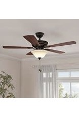 Studio District Wellston 44-inch LED Indoor Oil Rubbed Bronze Ceiling Fan with Light Kit