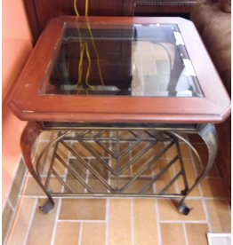 Vaughan Glass Top End Table