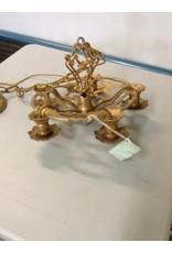 Studio District Antique Brass and Silver Chandelier