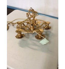Studio District Antique Brass and Silver Chandelier
