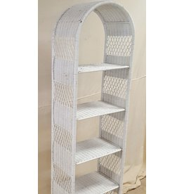 East York Faux Rattan Linen Rack
