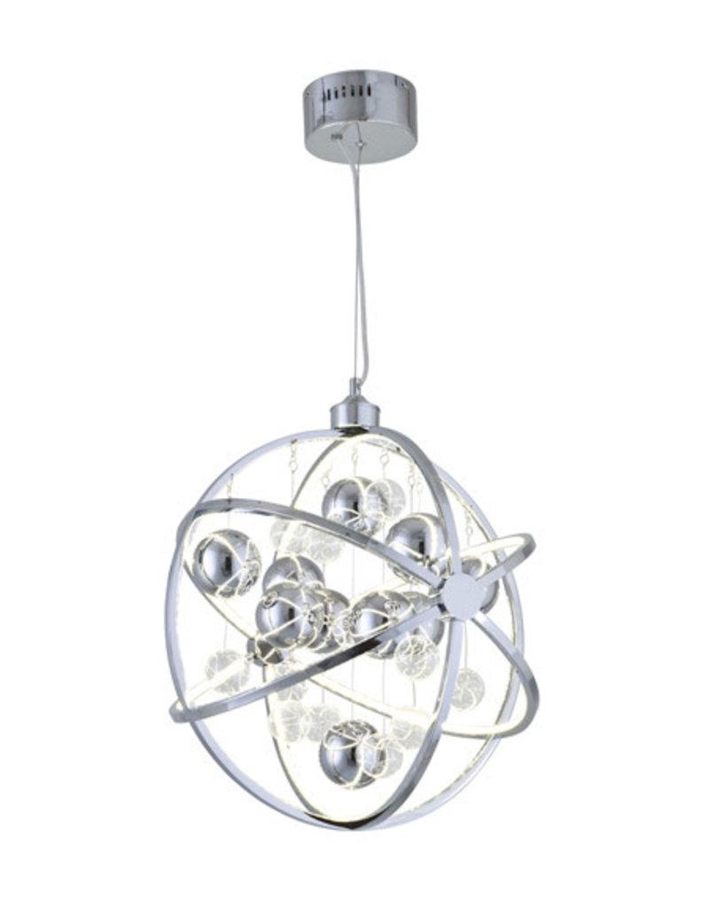 Studio District Atom LED 22 inch Chrome Pendant Ceiling Light