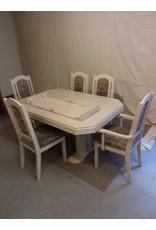 Vaughan Light Beige Oak Dining Set