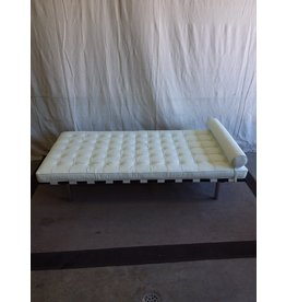 North York White Leather Day Bed