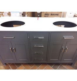 Vaughan KALIZE 63'' Double Vanity - Pepper Grey