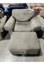 Markham West bauhaus faux suede chair and ottoman