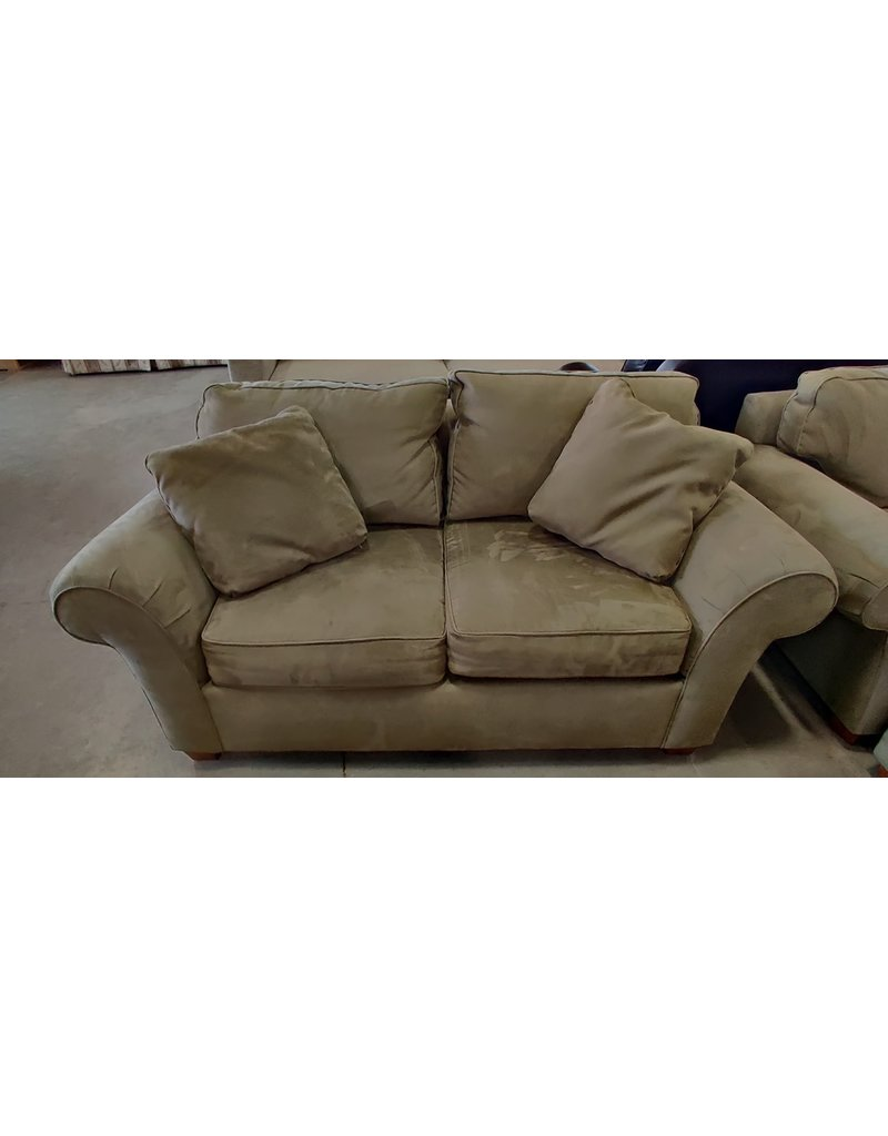 Markham West bauhaus faux suede loveseat