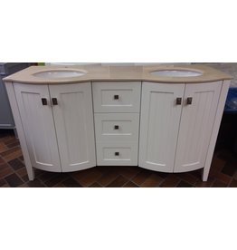 Vaughan Bridgeport 60'' Double Countertop Vanity - White
