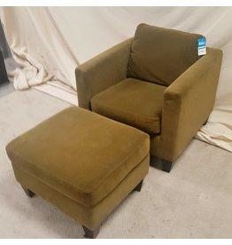 Chair and ottoman - Brown