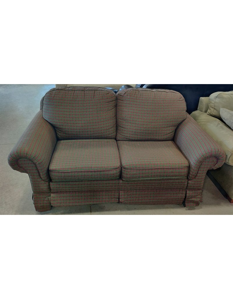 Markham West Vintage plaid Loveseat