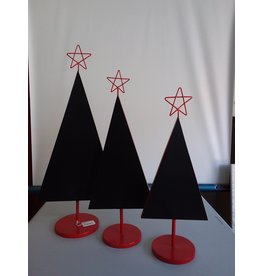 Studio District Red And Black 3 Piece Christmas Tree Set
