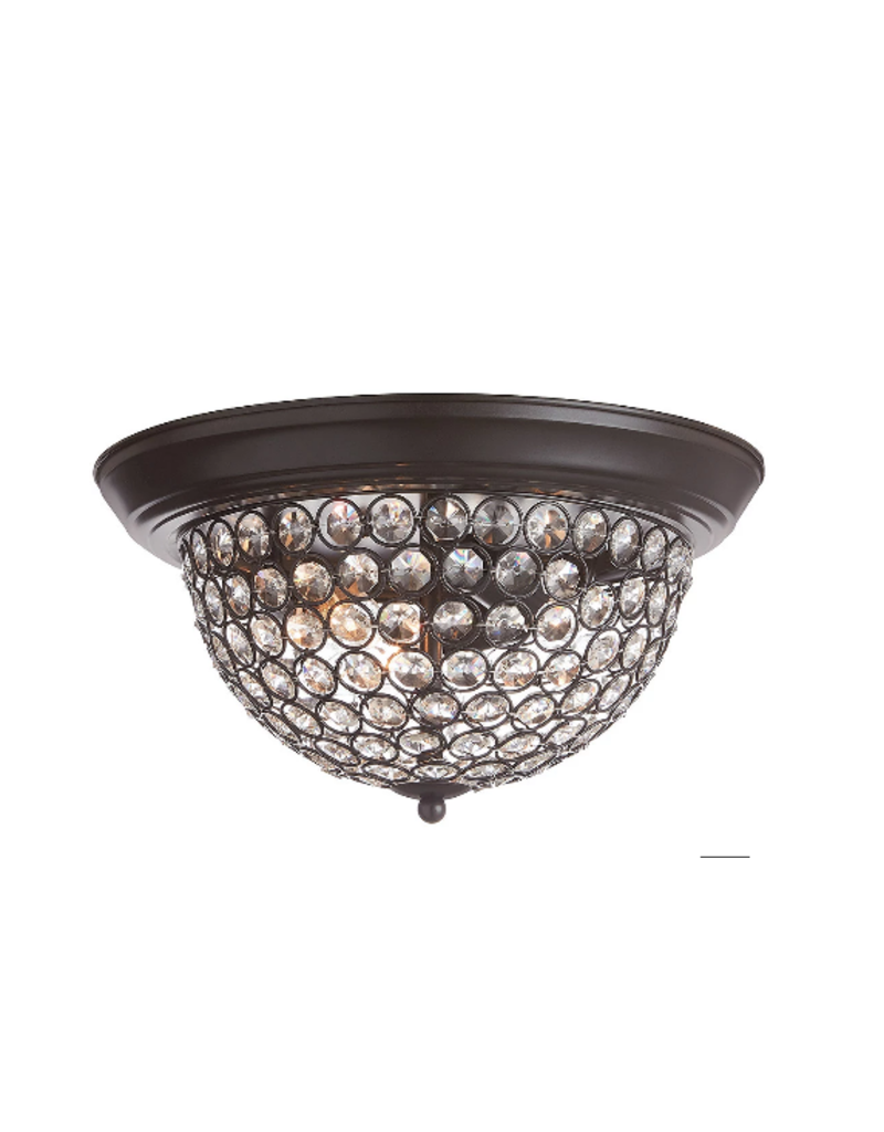 Vaughan Flushmount with Clear Glass Beaded Shade