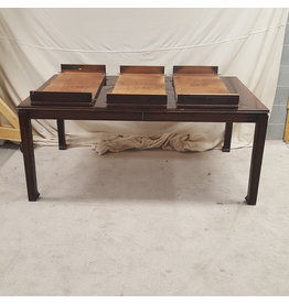 East York Wood dining table with 3 leaves