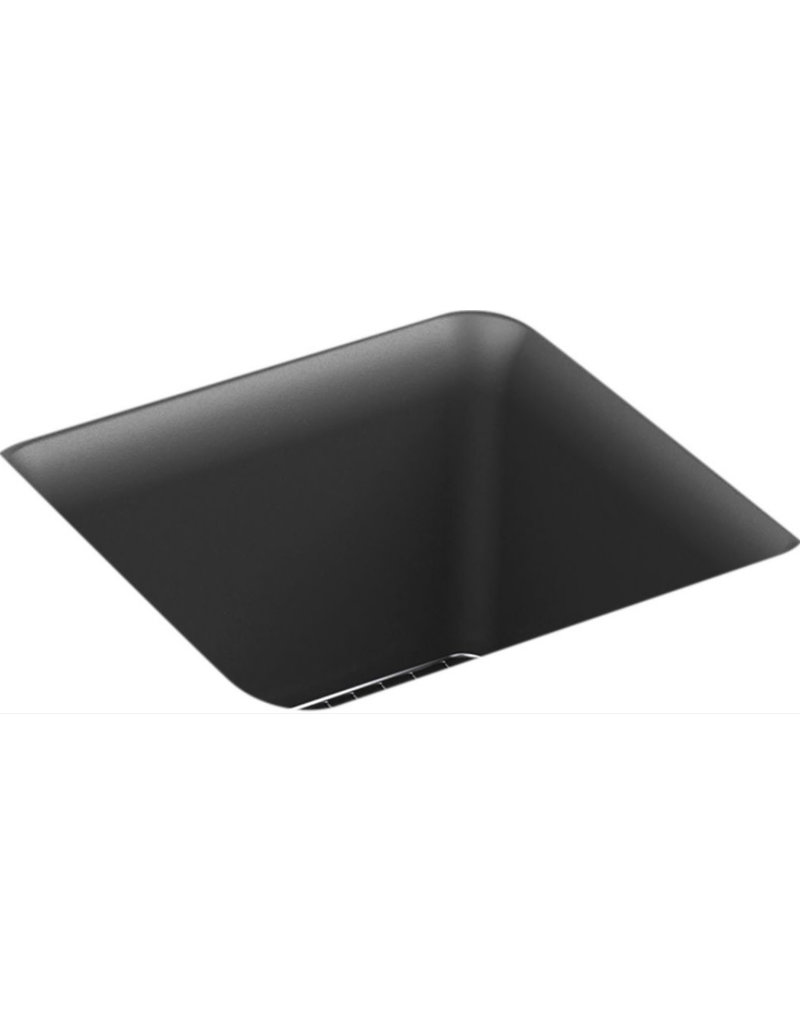 East York Cairn 15-1/2 inch x 15-1/2 inch x 10-1/8 inch Neoroc(R) under-mount bar sink in Matte Graphite