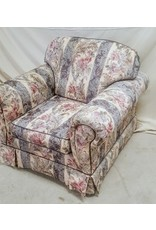 East York Floral motif arm chair