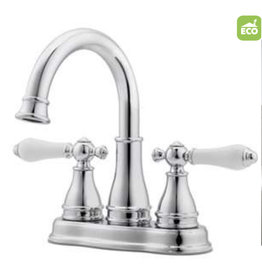 East York Pfister Sonterra Polished Chrome 2-Handle 4-in Centerset WaterSense Bathroom Sink Faucet with Drain