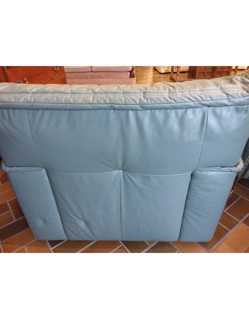 Vaughan Grey / Green Leather Armchair