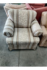 Markham West Floral Striped Arm Chair