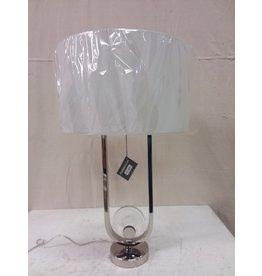 North York Silver Translucent Lamp