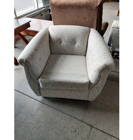 Markham West White decorative arm chair