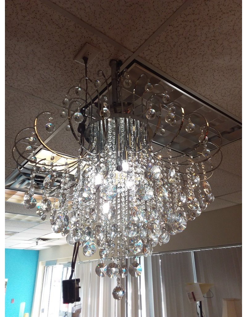 Vaughan Crystals and Chrome Chandelier