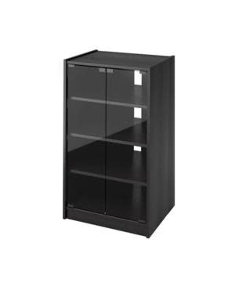 Vaughan Entertainment Stand - Black & Glass