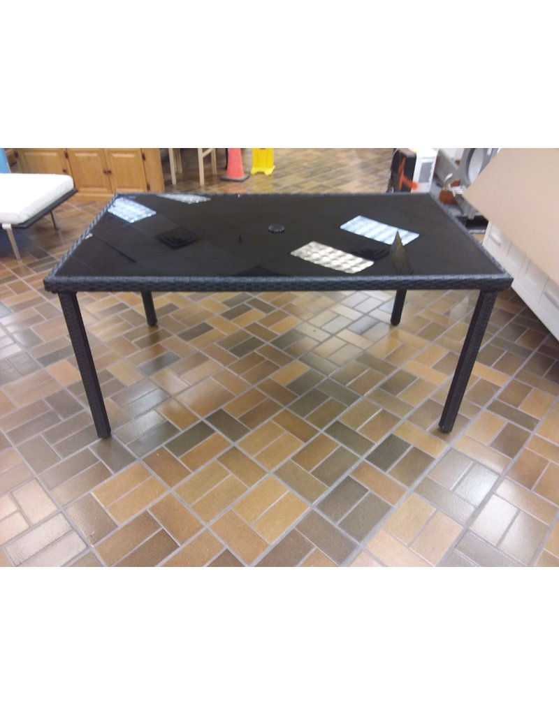 Vaughan Glass Top Dining Table