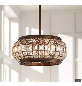 Vaughan Brass & Crystals Convertible Ceiling Light