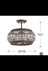 Vaughan Brass & Crystals Convertible Ceiling Light