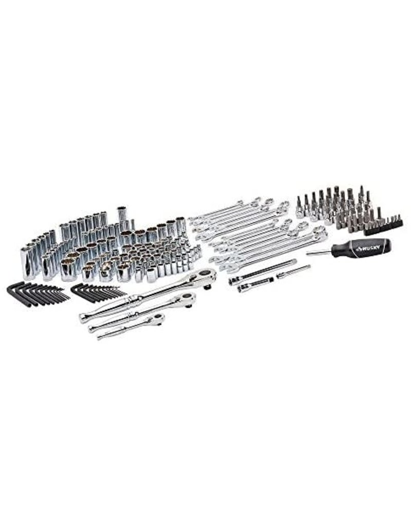 East York Husky 1/4-inch, 3/8-inch and 1/2-inch Drive 100-Position Universal SAE and Metric Mechanics Tool Set (105-Piece)
