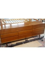 East York Nine drawer 70's style dresser