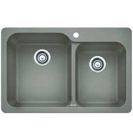 Brampton Blanco Granite Cast Double Sink