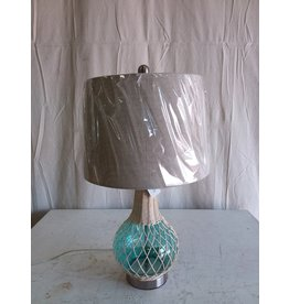 North York Woven Lamp - Blue